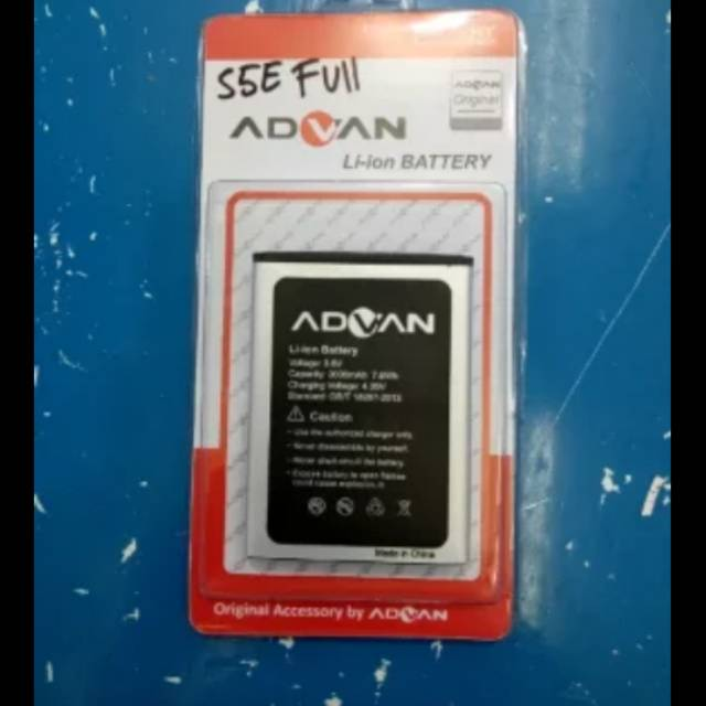 BATT BATERAI BATRE BATTERY ADVAN S5E FULLVIEW ORIGINAL OEM