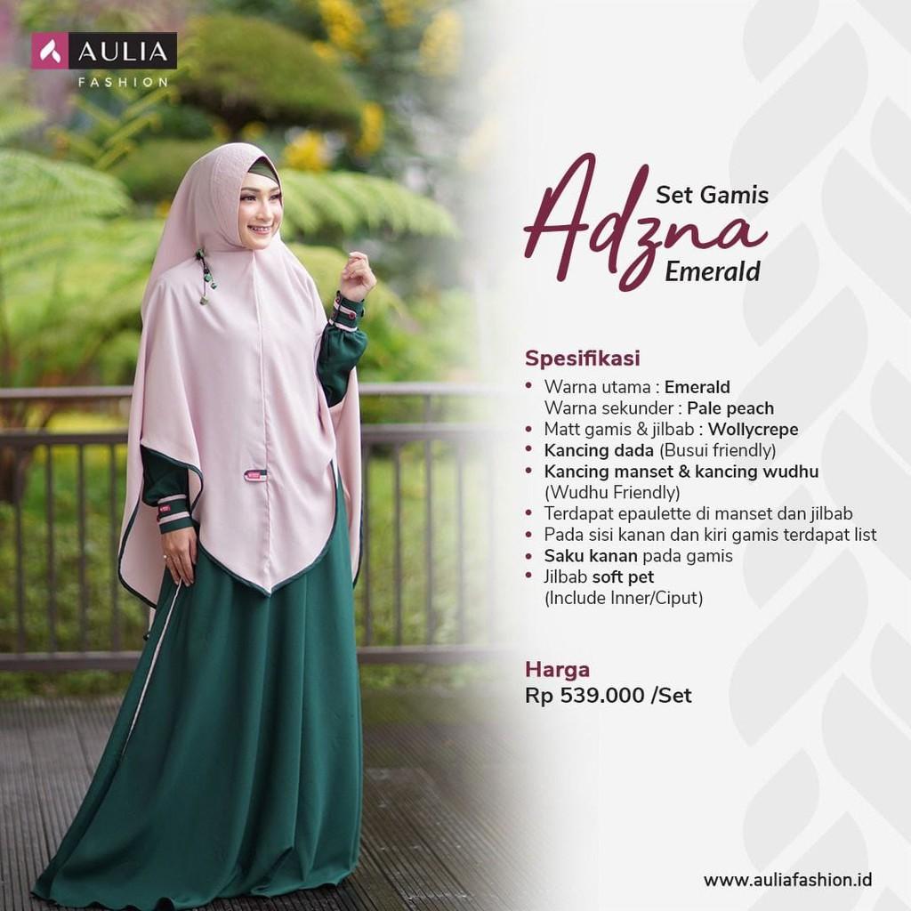Aulia Fashion Original Set Gamis Adzna Emerald Gamis Dewasa Fashion Muslim Terbaru 2020 Shopee Indonesia