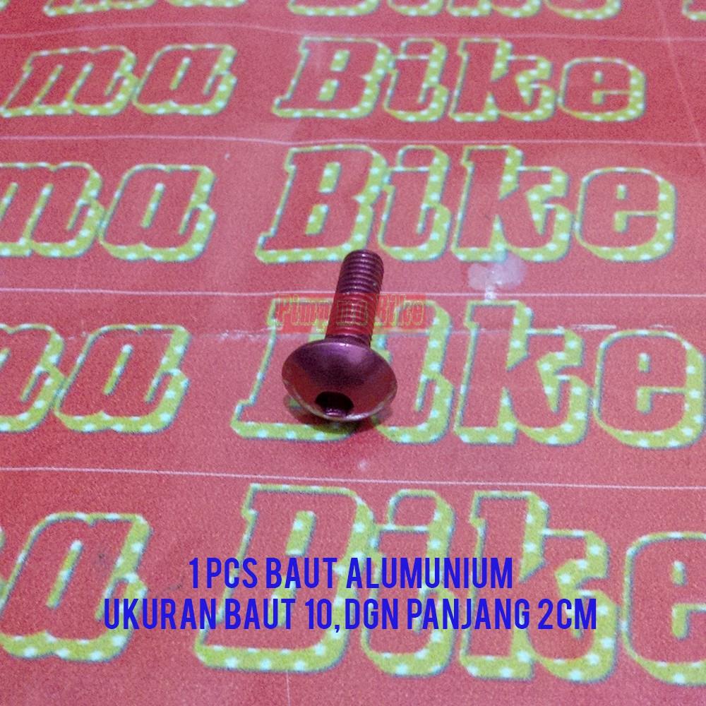 1x Baut 10 M6 L Alumunium Gold Emas Anodized 38 Cm Grade Pro Bolt Roda 8cm Panjang Shopee Indonesia