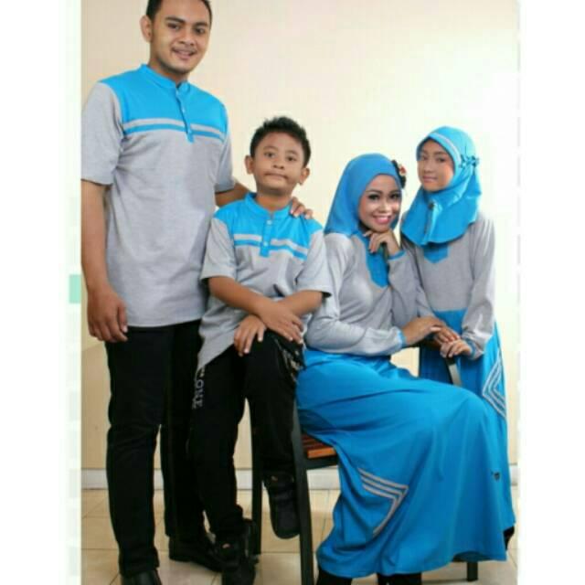 Baju Couple Keluarga Busana Muslim Sarimbit Gamis Syari Koko Pria