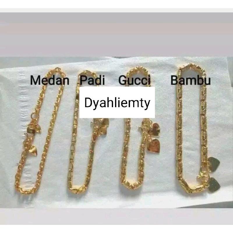 Gelang emas replika 24k (bisa di sepuh) 1 suku