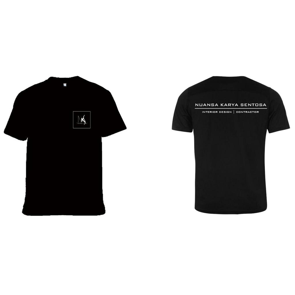 Baju Custom Tulisan Logo + Belakang