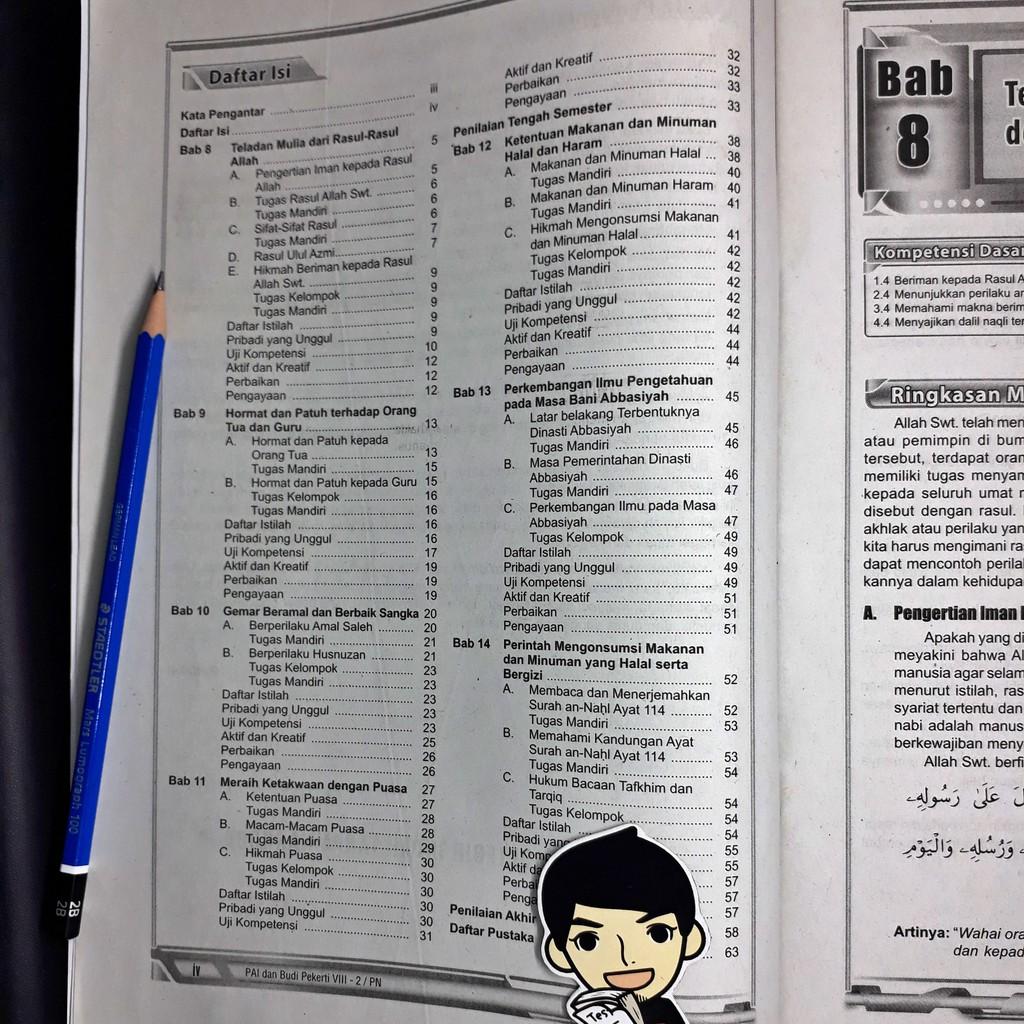 Lks Pendidikan Agama Islam Dan Budi Pekerti Pai Smp Mts Kelas Viii 8 Semester 2 Zamrud Shopee Indonesia
