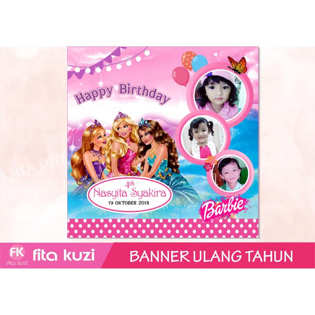banner ulang tahun barbie