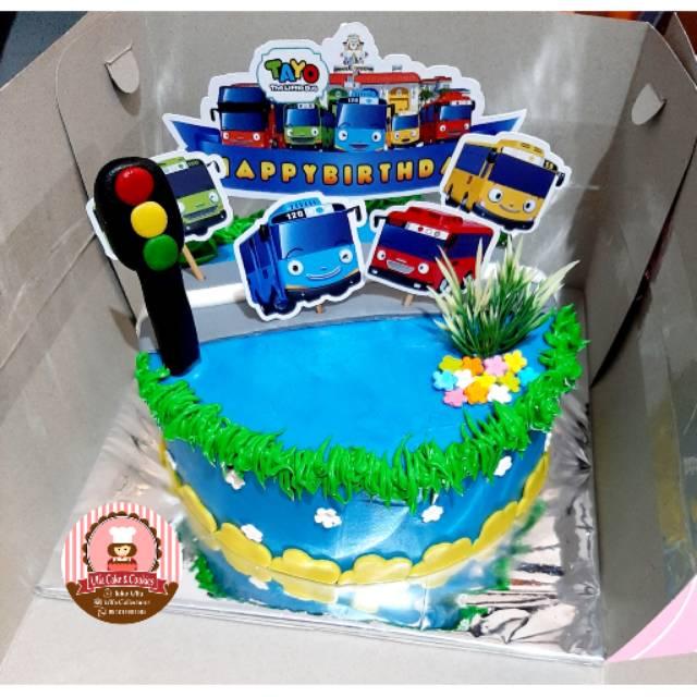 Tayo Birthday Cake Kue Ulang Tahun Tayo Kue Ultah Anak Shopee Indonesia