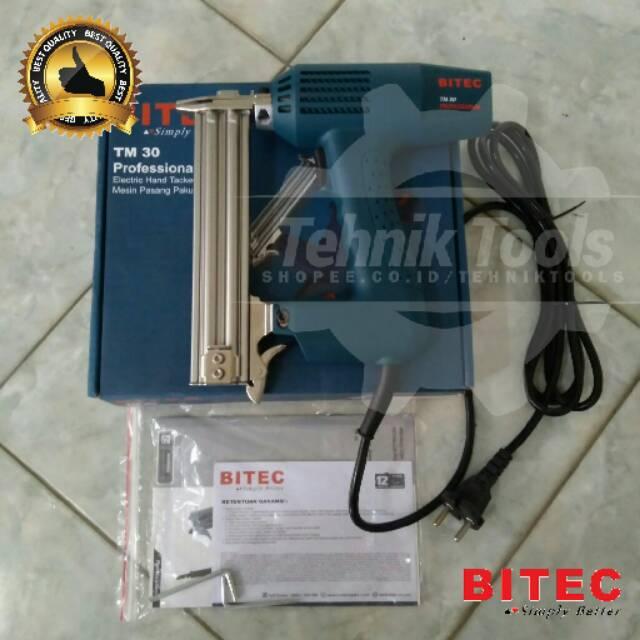 Nailer gun Listrik TM30 BITEC mesin Staples model I / Mesin Paku Tembak Listrik nail gun | Shopee Indonesia