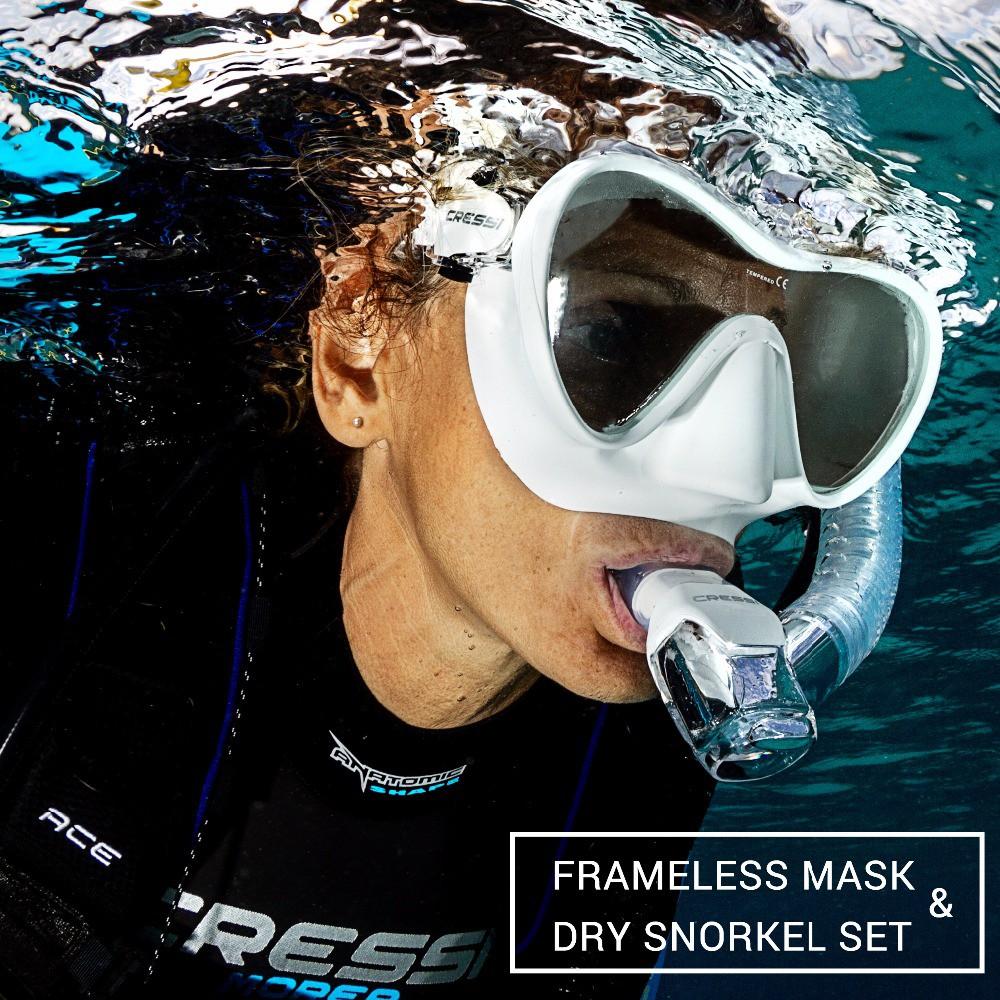 Cressi F1 Dry Premium Scuba Mask Snorkel Set Adult