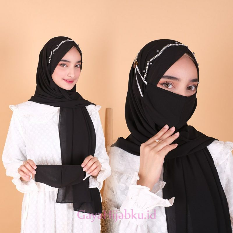 Pashmina/Pasmina Ceruty Baby Doll/Jilbab Pashmina Tali Payet Masker Hijab/kerudung pasmina