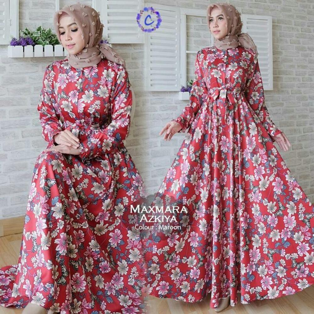 model baju muslim gamis terbaru dan modern Maxmara Azkiy atasan muslim  wanita EER_Shop