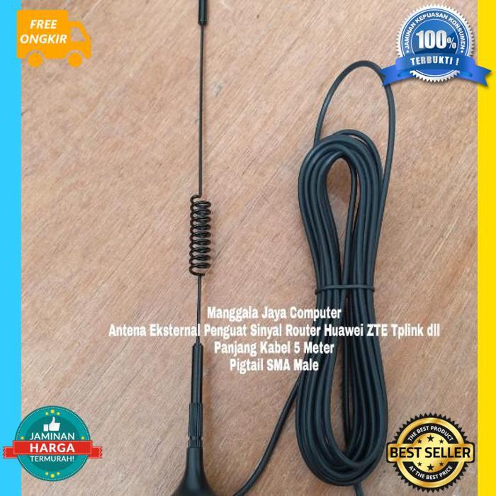 Cod Aja Antena Modem Orbit Star Telkomsel Huawei B312 B311 Kabel 5M Sma Male