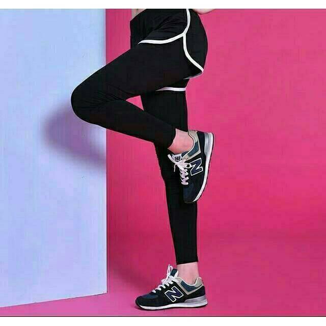 Celana Sport Olahraga Lari Yoga Tally Cewek Wanita Gym Senam Legging Shopee Indonesia
