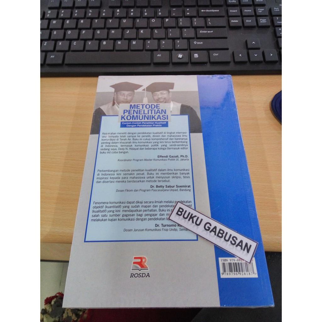 Buku Metode Penelitian Komunikasi Deddy Mulyana Dan Solatun Pr