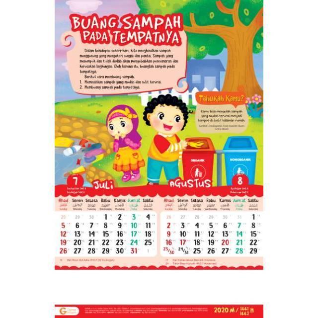 Kalender Anak 2020 Islami Shopee Indonesia
