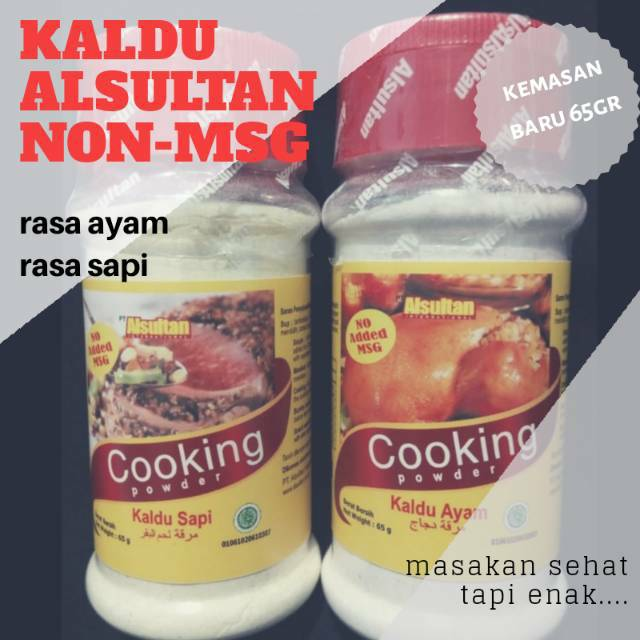 Alsultan Al Sultan Kaldu Bubuk Sehat Sapi Ayam Non MSG Terlaris | Shopee Indonesia