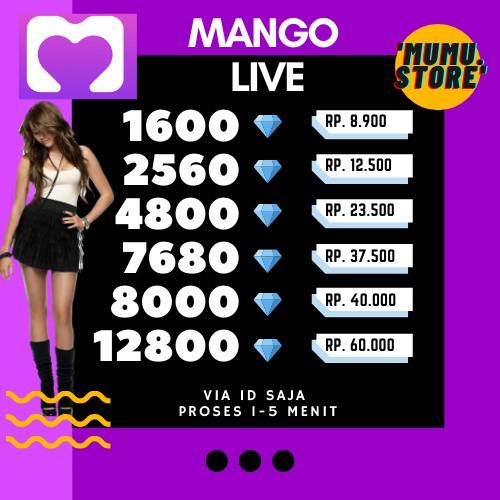 Mango Live Diamond Top Up - Top Up Mango - Mango Live Diamond - Mango Murah - Diamond Mango Top Up