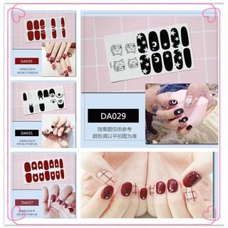 COD 14Pcs Set Stiker Kuku Motif Polos untuk Dekorasi Nail Art DIY thumbnail