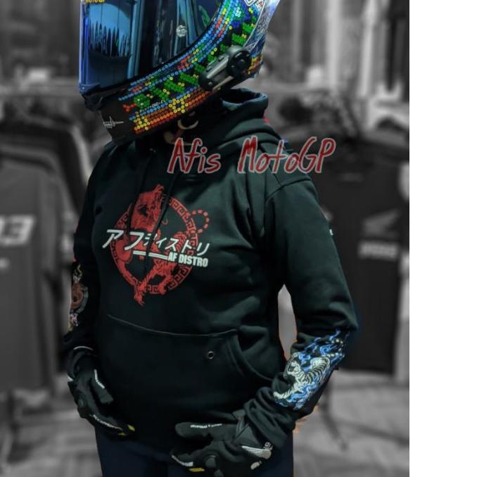 Borong hoodie sunmori japanese limited edition ride with style hoodie kohaku naga tiger agv pista -