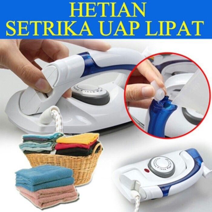 Setrika Uap Lipat Portable Hetian / Soarin 2in1 Travel Iron Steamer | Shopee Indonesia