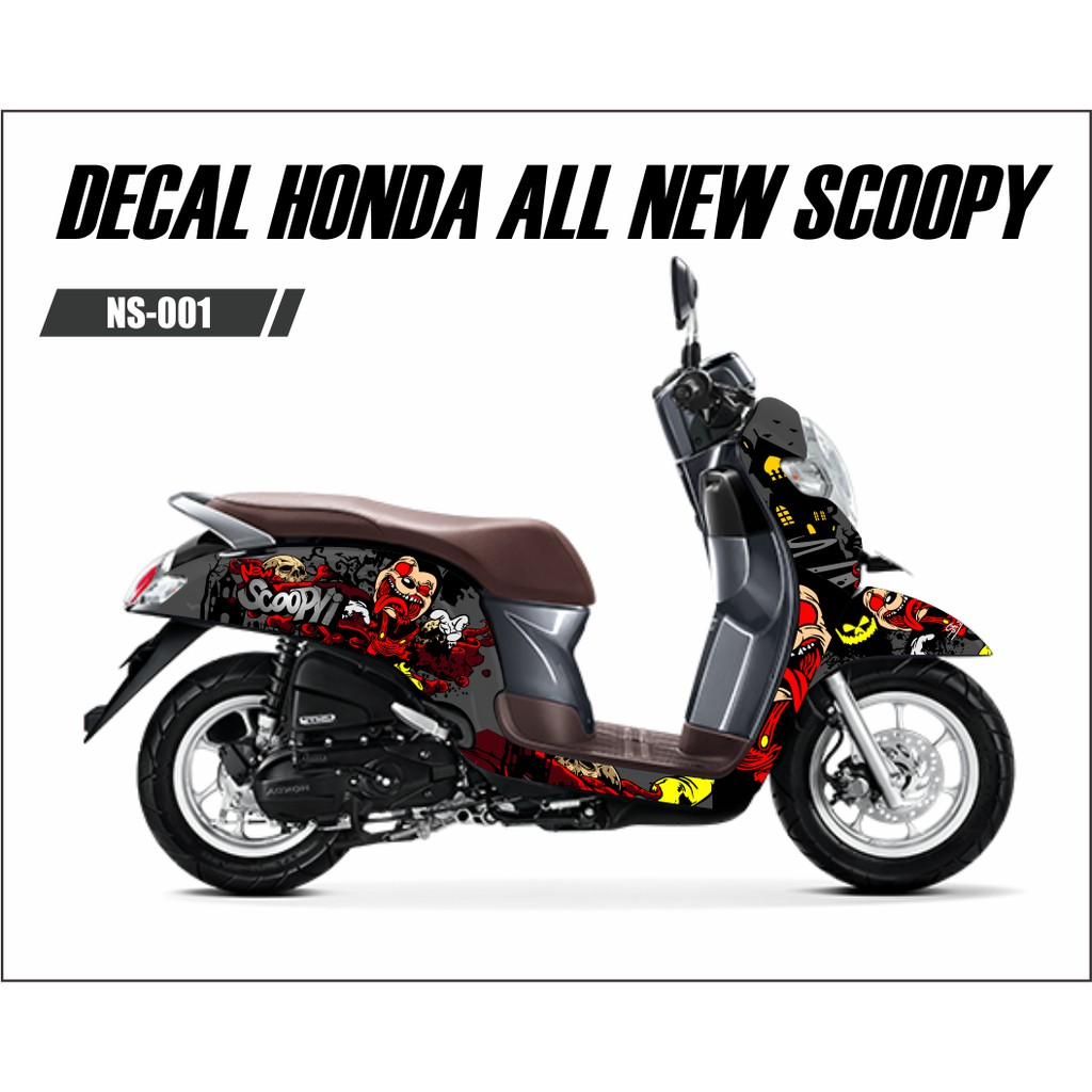 Sticker Decal Honda Scoopy New Full Body Zombie Shopee Indonesia