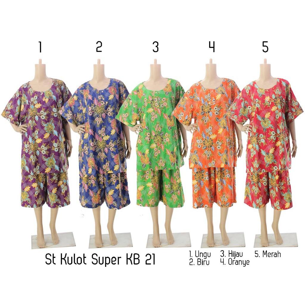 Stelan Celana Kulot 3 4 Berlengan Pendek Batik Print Spt002 02e 01 Setelan Baju Tidur Santai K1k2k3k4k5 Shopee Indonesia