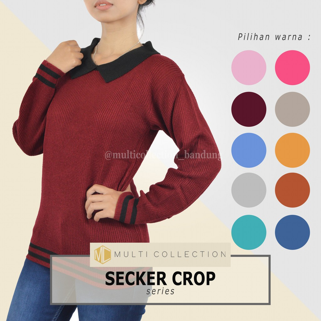 Boho Sweater Tali Rajut Baju Korea Roundhand Secker Sj0015 Grosir Pakaian Shopee Indonesia