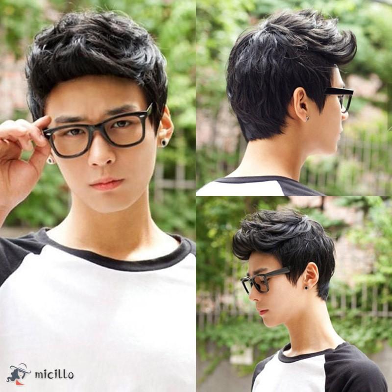 Wig Cosplay Model Rambut Pendek Warna Hitam Untuk Pria Shopee Indonesia