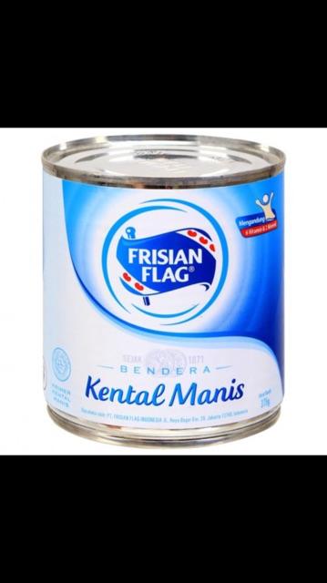 Susu Kental Manis Bendera Frisian Flag Kaleng 370 Gram Coklat Dan Putih Shopee Indonesia