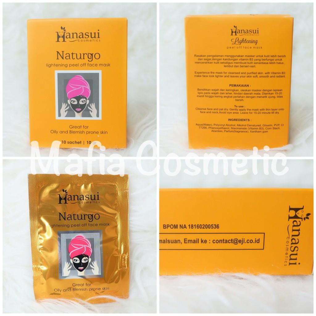 Naturgo Original Mud Mask Masker Lumpur Hanasui Bpom Per Box Shopee Indonesia