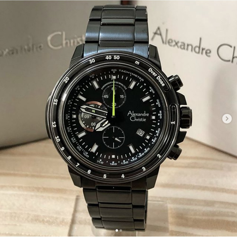 Alexandre Christie Ac 6163 Pria Full Black Original Shopee Indonesia 6442 Mc Rose Gold