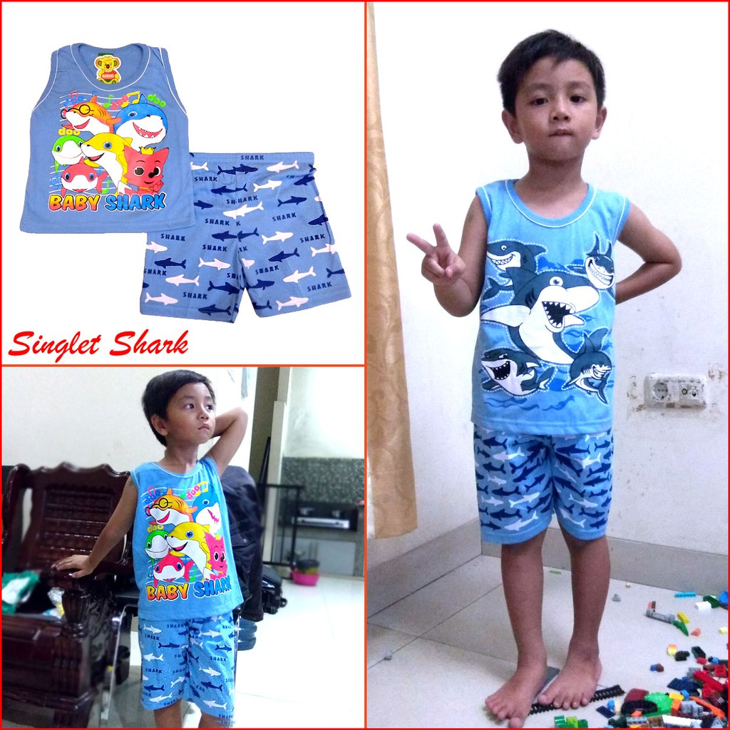 Macbear Kids Baju Anak Setelan Singlet Mannequin Challenge Shopee Polo Brave Fire Size 1 Navy Indonesia