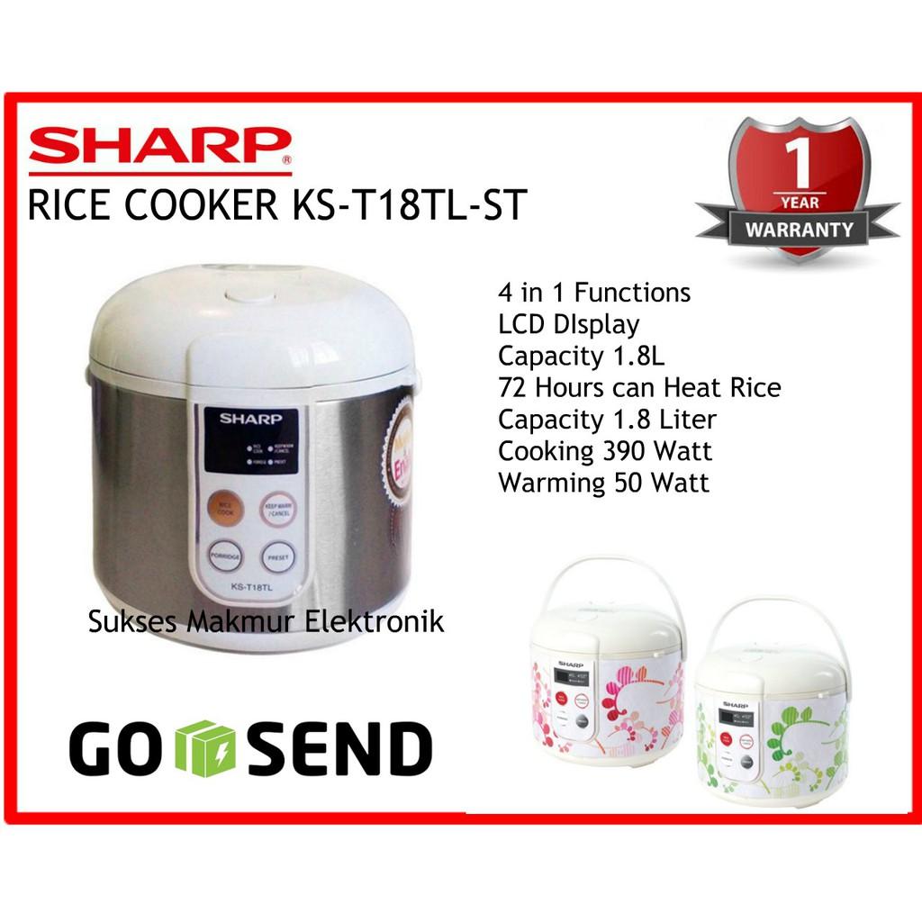 Sharp Rice Cooker 18 Liter 4 In 1 Ks T18tl Daftar Harga Terkini Juicer 15 Ej150lpk Toko