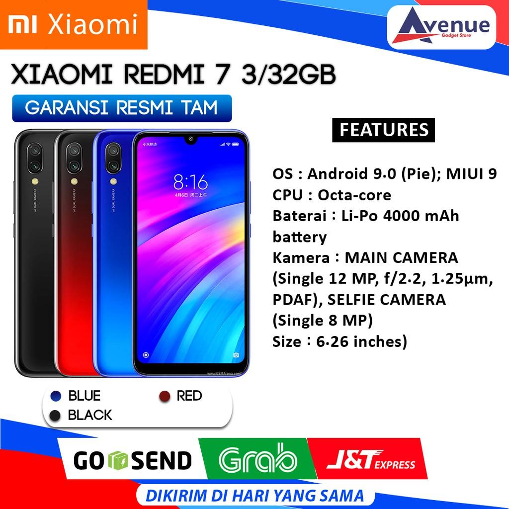 Hp Xiaomi Redmi 7 3 32gb Garansi Resmi Tam Promo Murah Shopee Indonesia