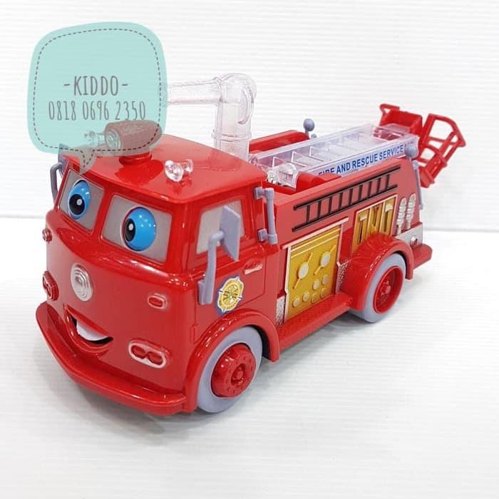 Mainan Mobil Pemadam Kebakaran Kartun Fire Fighter S Shopee Indonesia