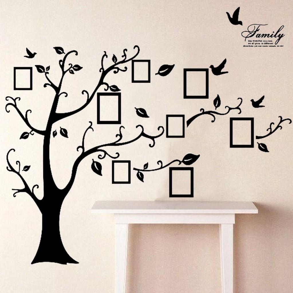 【 COD 】 Stiker Dinding Mural Gambar Pohon Bingkai Foto Keluarga Untuk Dekorasi Rumah