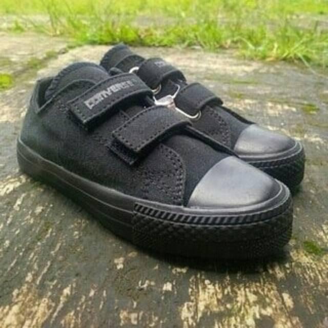 Sepatu Converse Kids tanpa tali perekat  pendek tali   low   boost full  hitam Converse Anak Anak  74eb7fbf53