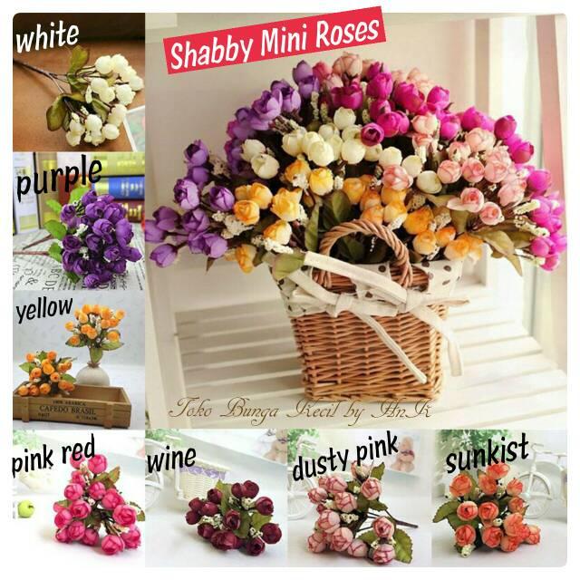 Bunga mawar mini mawar hias bunga dekorasi artificial flower artificial  roses bunga dekorasi shabby  6b9233c308