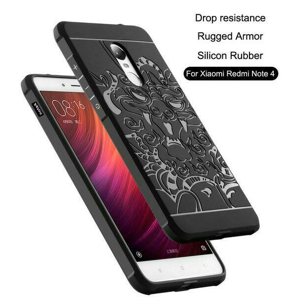 [Bayar Di Tempat] For Xiaomi Redmi Note 3 Case Carbon Fiber Shockproof Soft Back Cover | Shopee Indonesia