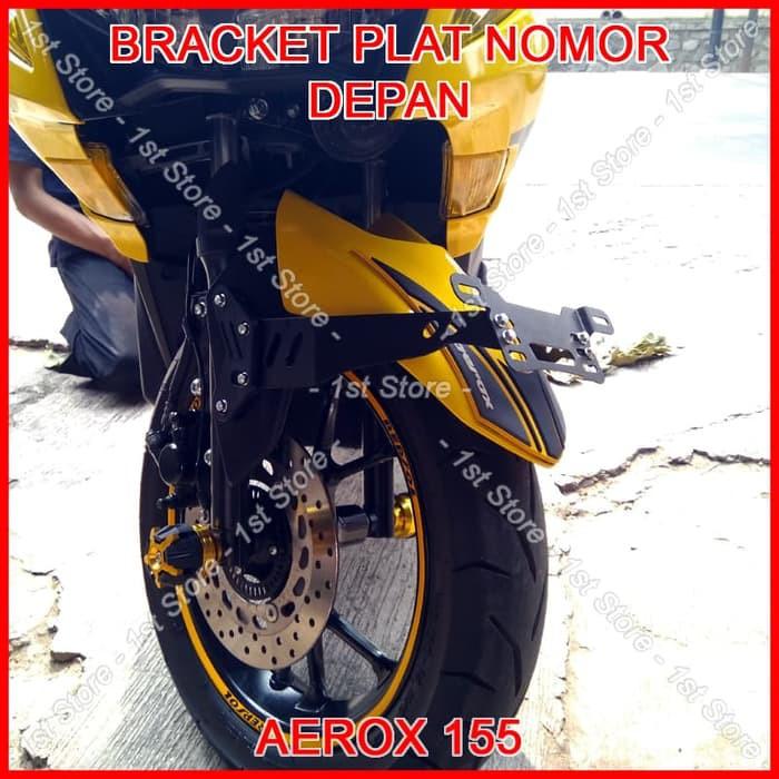 Terlaris Bracket Plat Nomor Depan Aerox 155 Pnp Dudukan Breket Braket Spakbor | Shopee Indonesia