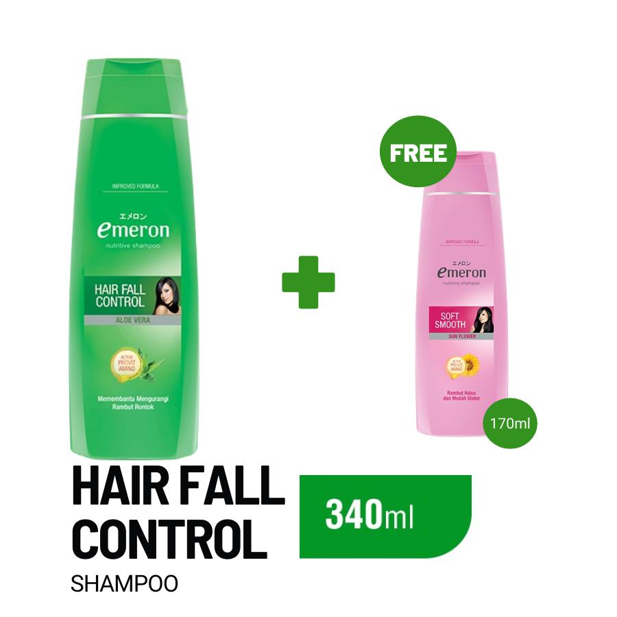 Emeron Shampoo Hair Fall Control Botol 340ml.