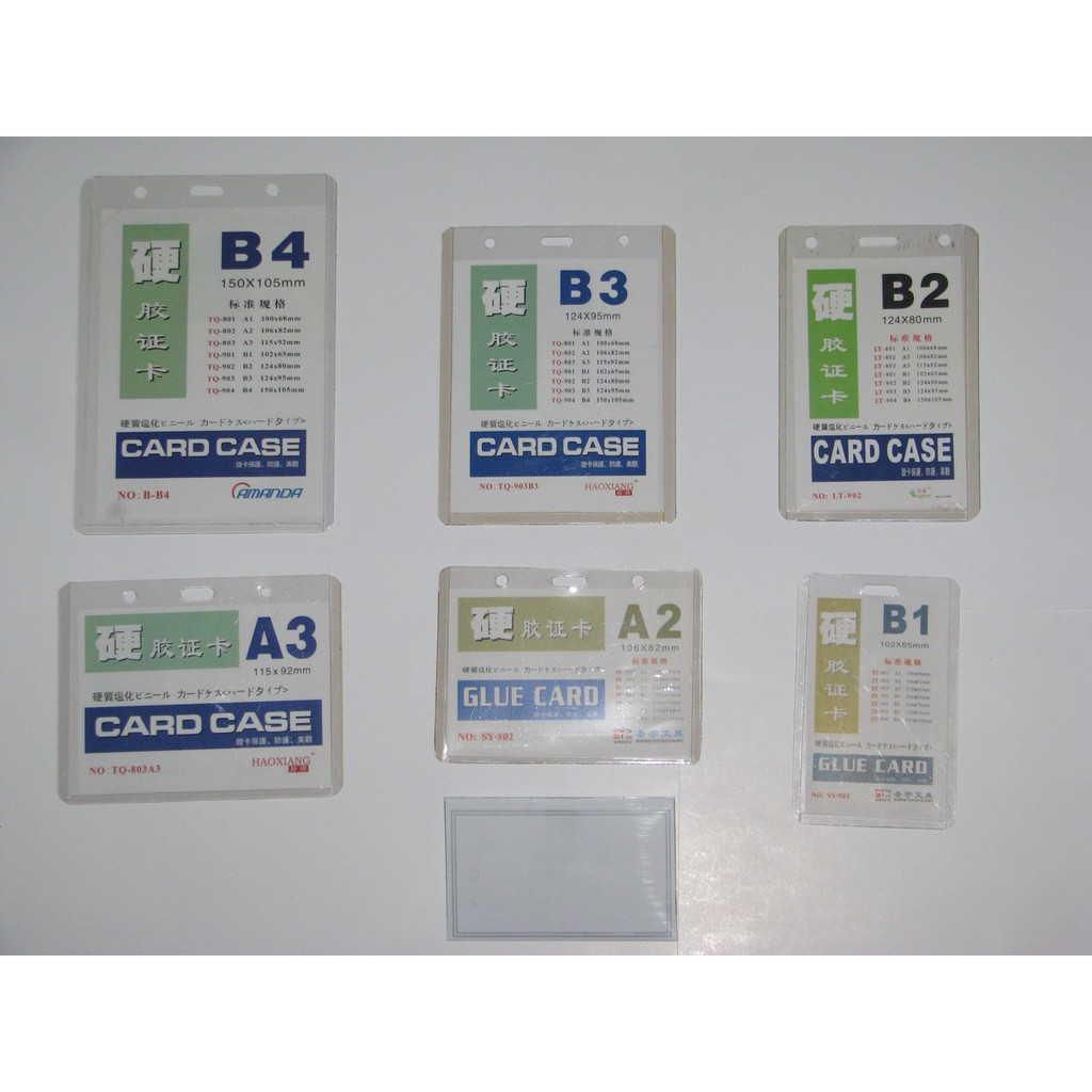 name tag id card case b1b4 a1a3  shopee indonesia