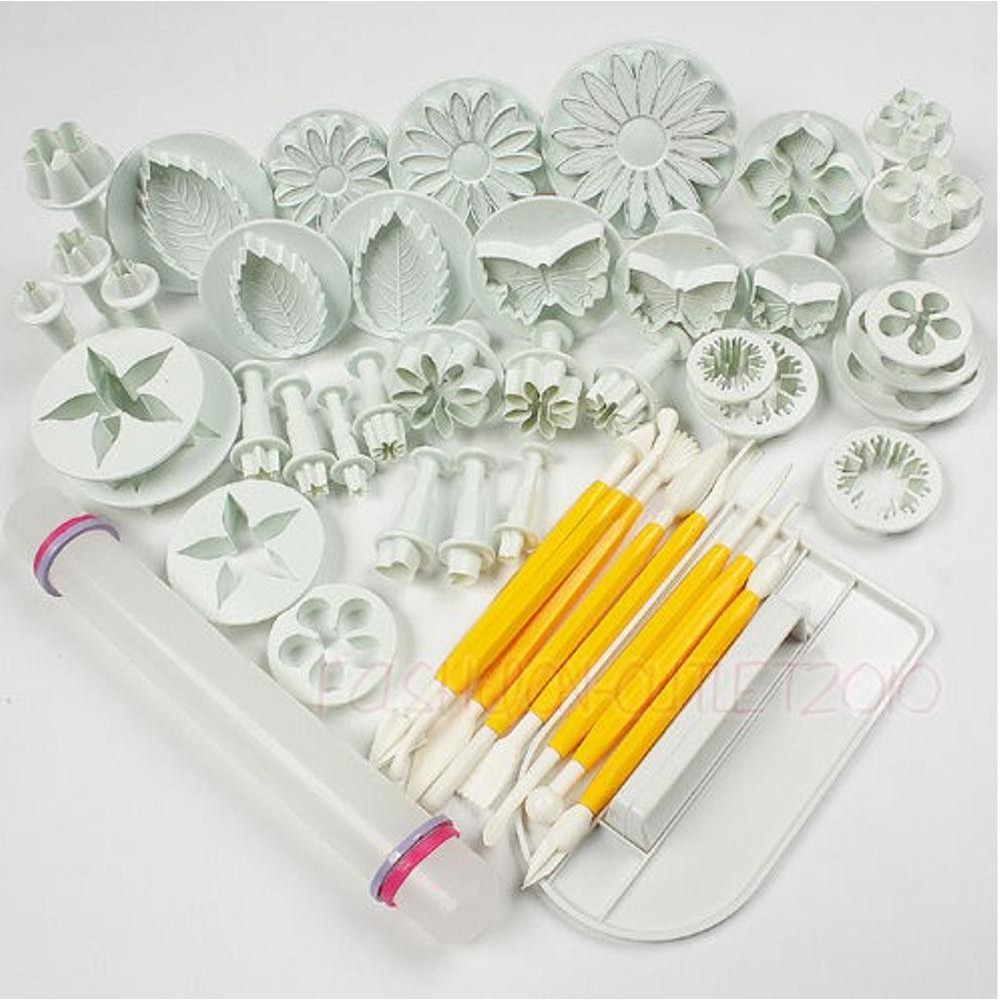 Pieces Cetakan Fondant Lengkap Fondant Cutter cake Decorating Fondant Icing Plunger Cutters Mol | Shopee Indonesia