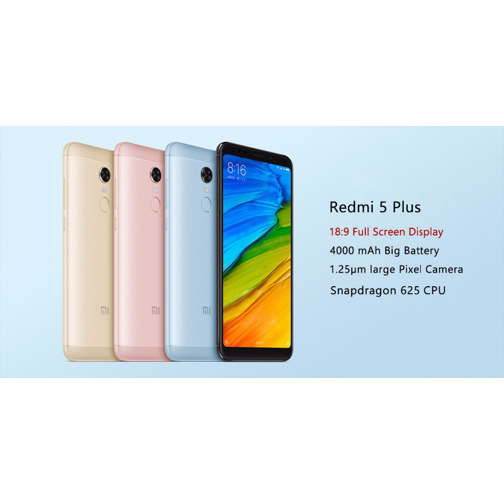 Xiaomi Redmi 5 Plus Ram 3gb Internal 32gb Grs Distributor Flash Blue Garansi Sale Shopee Indonesia