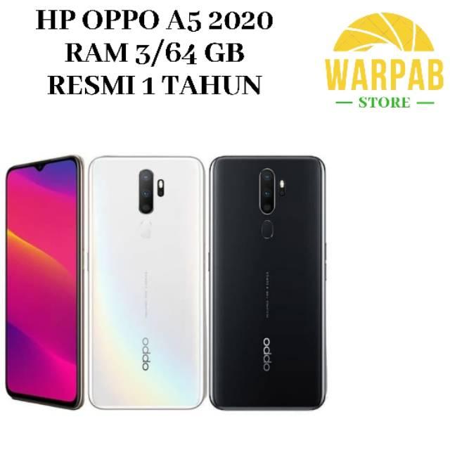 TERBARU HP OPPO A5 2020 3/64 GB - OPO A 5 RAM 3GB INTERNAL 64GB GARANSI RESMI