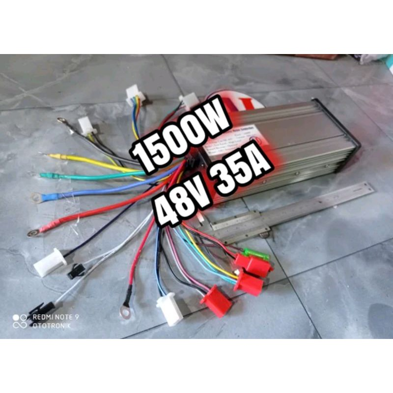 Kontroller BLDC brushless motor listrik 800W 1000W 1500W 48V