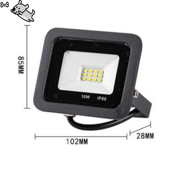 Led Floodlight 10w Flood Light Spotlight Outdoor Waterproof Garden Lamp Shopee Indonesia
