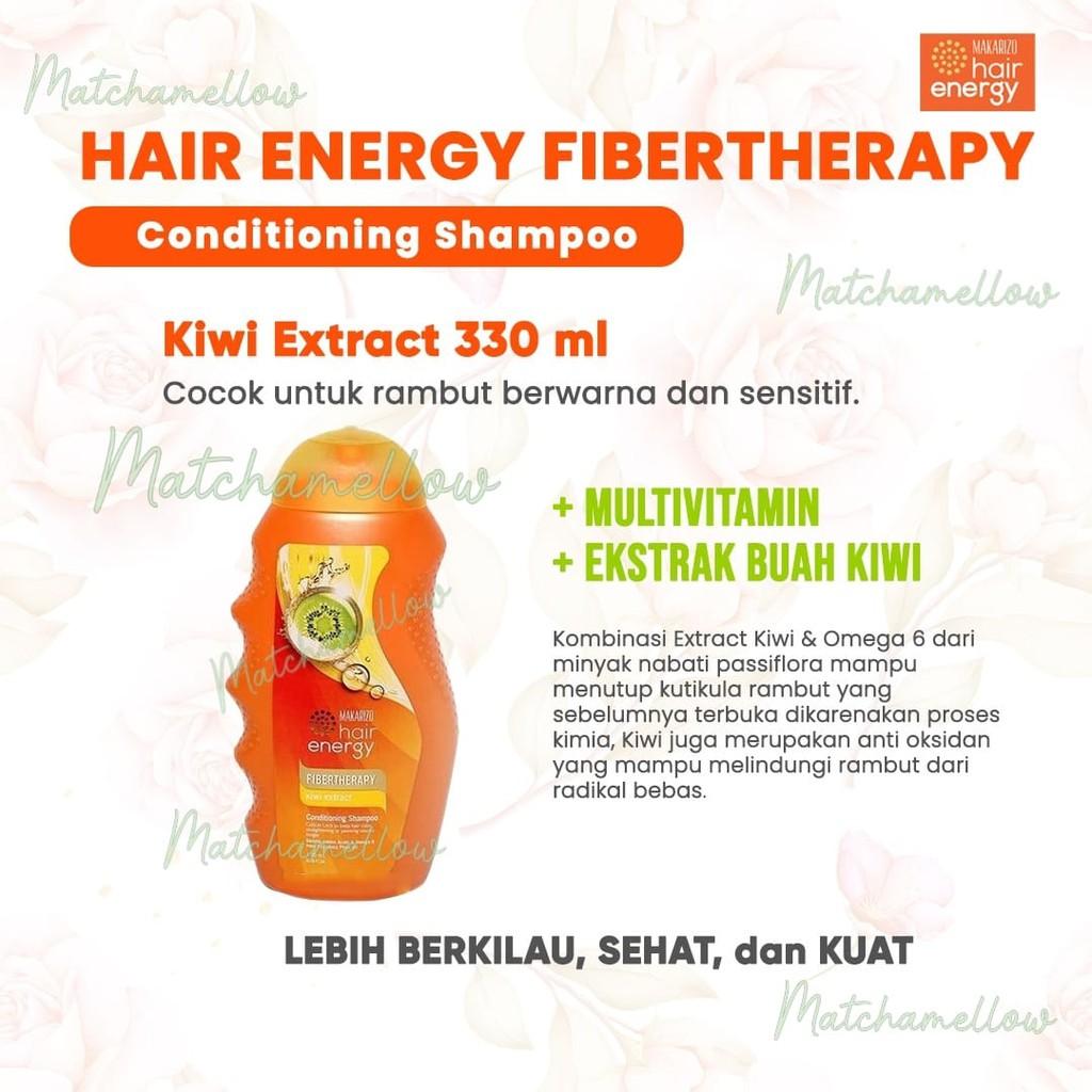 ❄️MATCHA❄️MAKARIZO HAIR ENERGY FIBERTHERAPY CONDI SHAMPOO 170 320 ML SAMPO PEMBERSIH RAMBUT 2IN1-KIWI