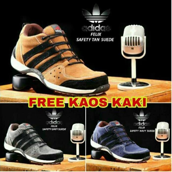 c0965abf8d0 Sepatu Boots Safety Shoes Pria Aman Kerja Brand Original Outdor Army Bagus  Murah Baru Size 39 43