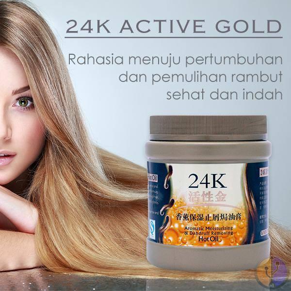 Masker Rambut Rontok Kering Bercabang Berminyak Berketombe Lepek Mengembang 24k Active Gold Hairmask Shopee Indonesia
