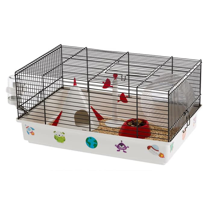 Kandang Hamster Unik Lucu Criceti 9 Space Hamster Cage Ferplast Shopee Indonesia
