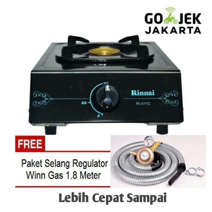 Paket Rinnai RI-511C Kompor Gas 1Tungku + Selang Regulator Winn Gas   Shopee Indonesia